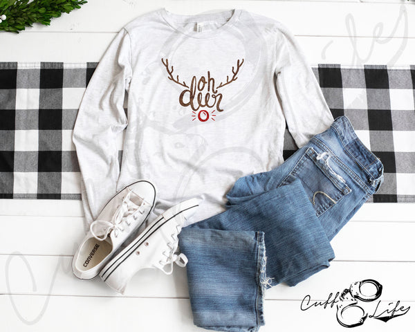 Oh Deer (Rudolph) - Long Sleeve Tee