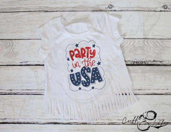 Party in the USA - Fringe Tee