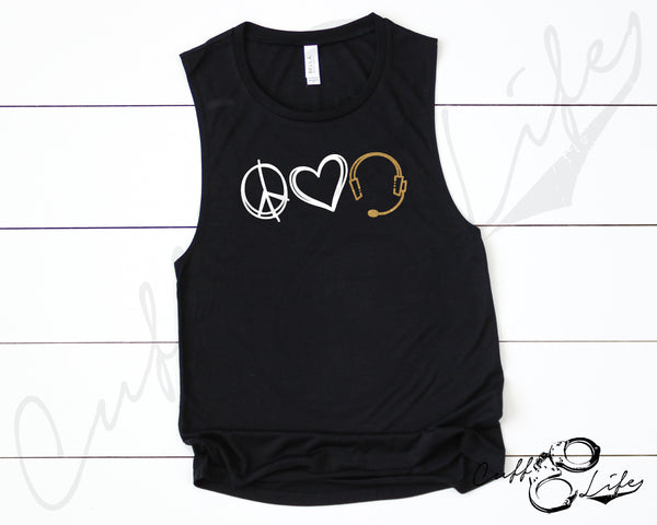 Peace Love Dispatch - Muscle Tank