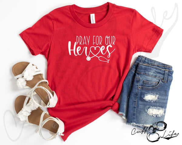 Pray For Our Heroes NURSE © - Toddler/Youth T-Shirt