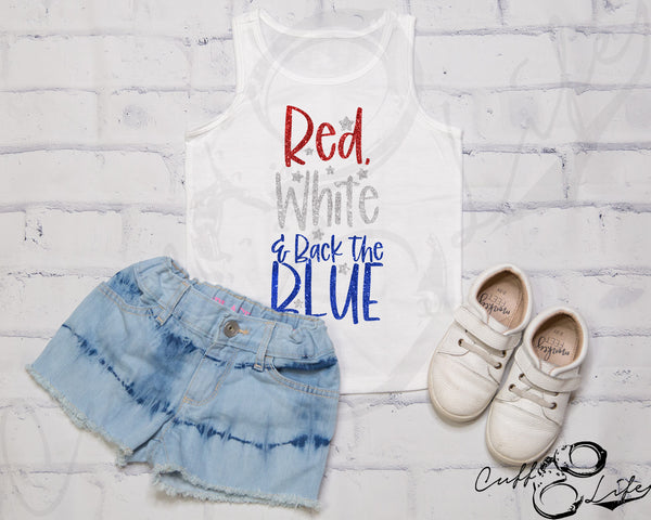 Red White & Back The Blue © - Toddler/Youth Tank