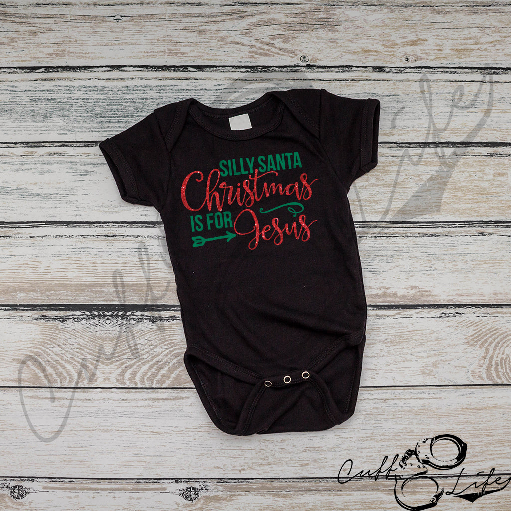 Silly Santa, Christmas Is For Jesus - Infant Bodysuit