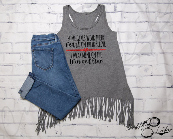 Some Girls Wear Their Heart on Their Sleeve TRL © - Fringe Tank