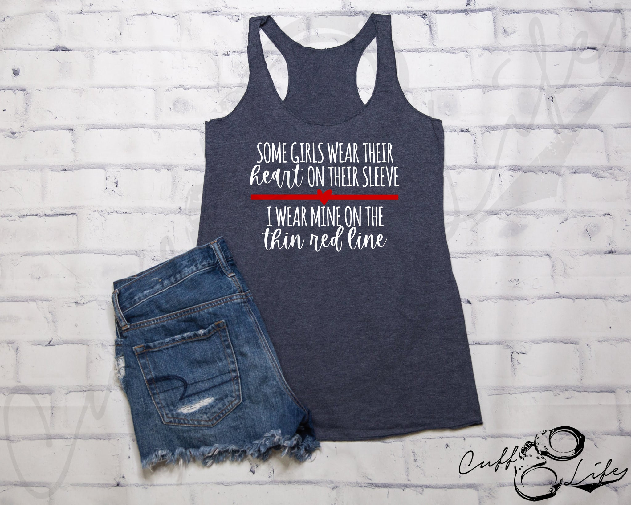 Some Girls Wear Their Heart on Their Sleeve TRL © - Racerback Tank