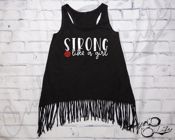 STRONG Like A Girl © - Fringe Tank
