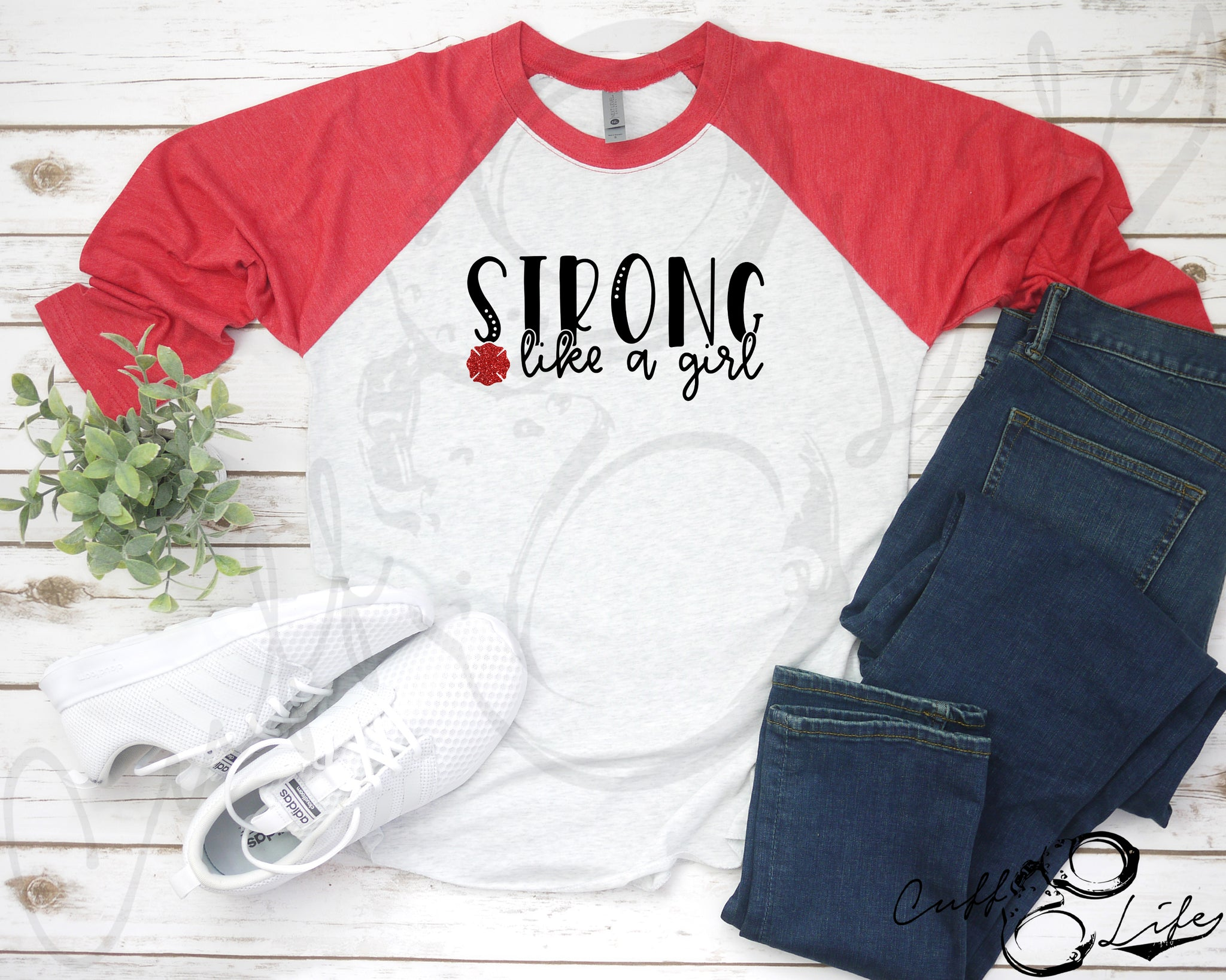 STRONG Like A Girl © - 3/4 Sleeve Raglan