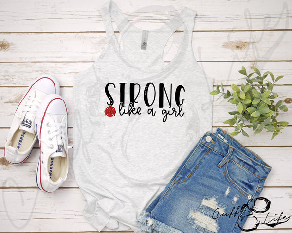 STRONG Like A Girl © - Racerback Tank