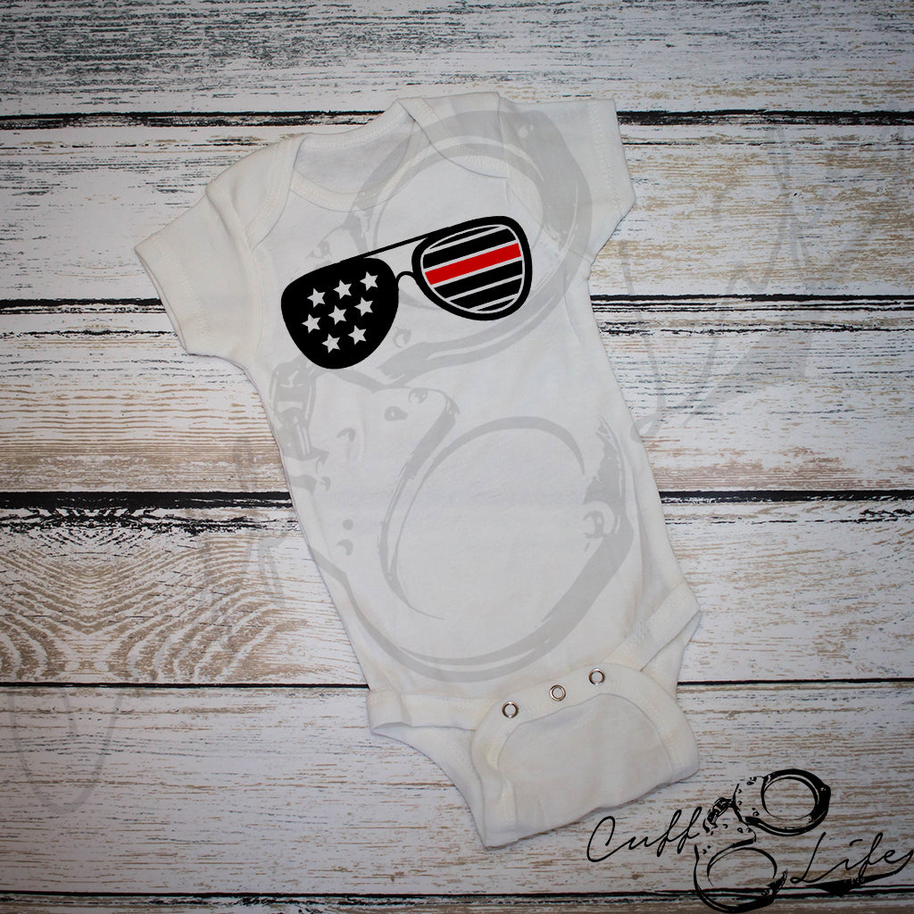 Sunglasses - Thin Red Line - Infant Bodysuit