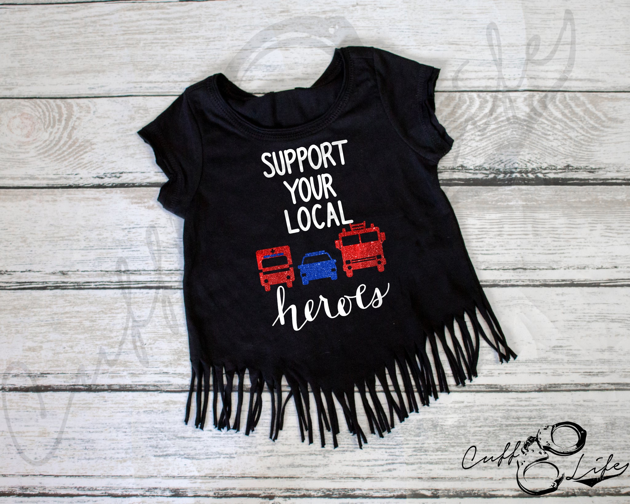 Support Your Local Heroes - Fringe Tee