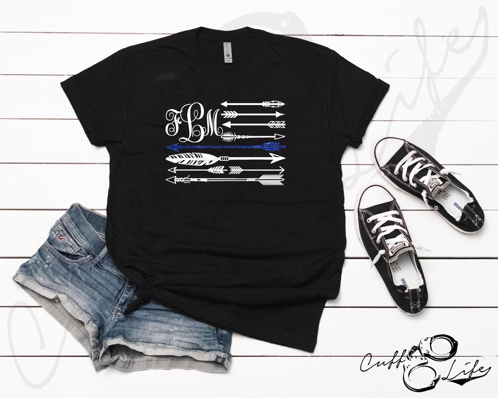 Monogram Arrow Flag - TBL © - Unisex T-Shirt