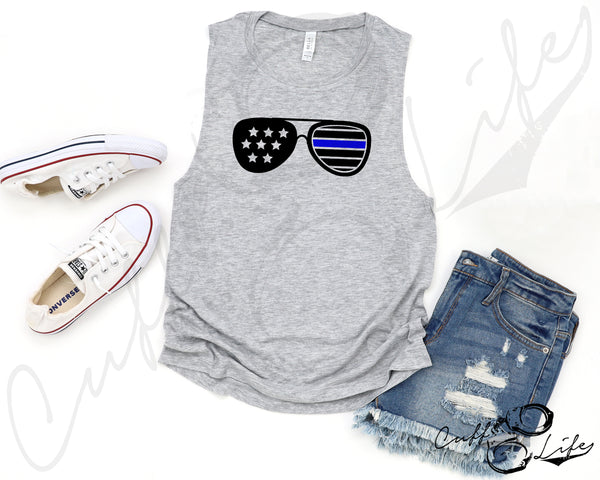 Thin Blue Line Sunglasses - Muscle Tank