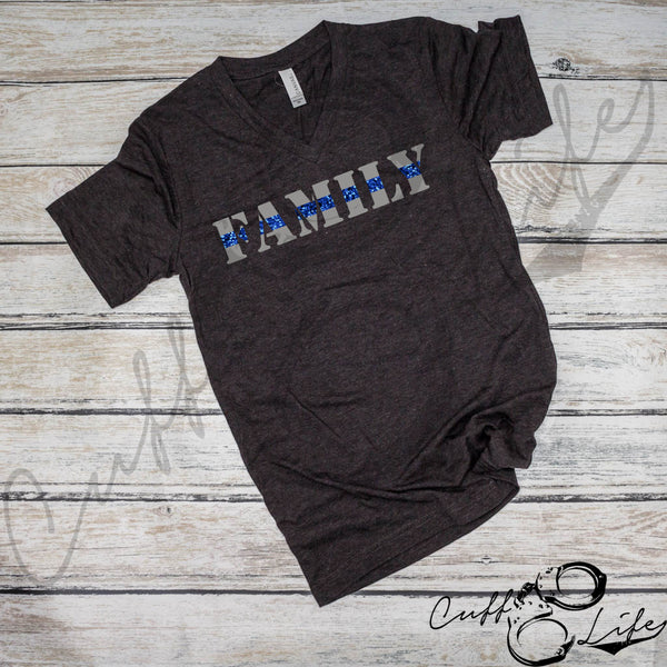 Thin Blue Line Family - Boyfriend Fit V-Neck Tee