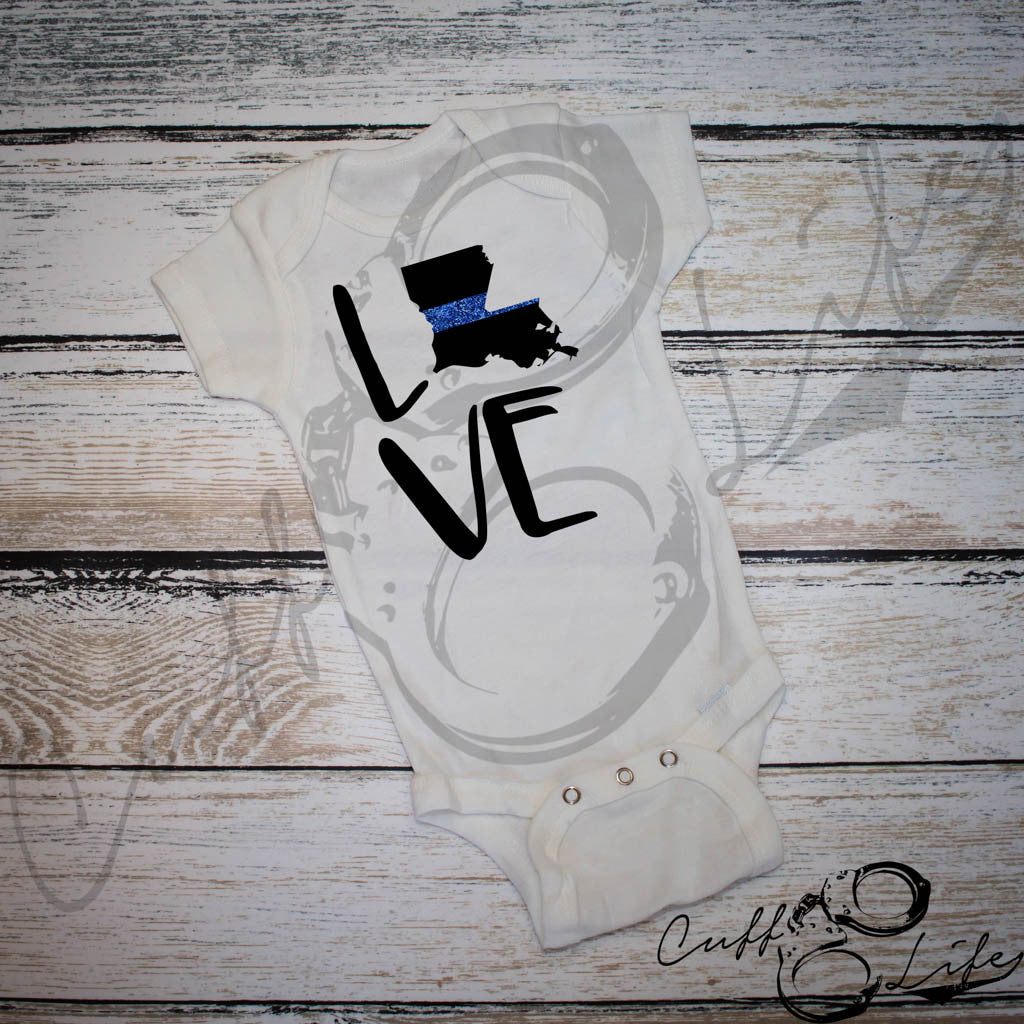 "Thin Blue Line ""State"" - Infant Bodysuit"