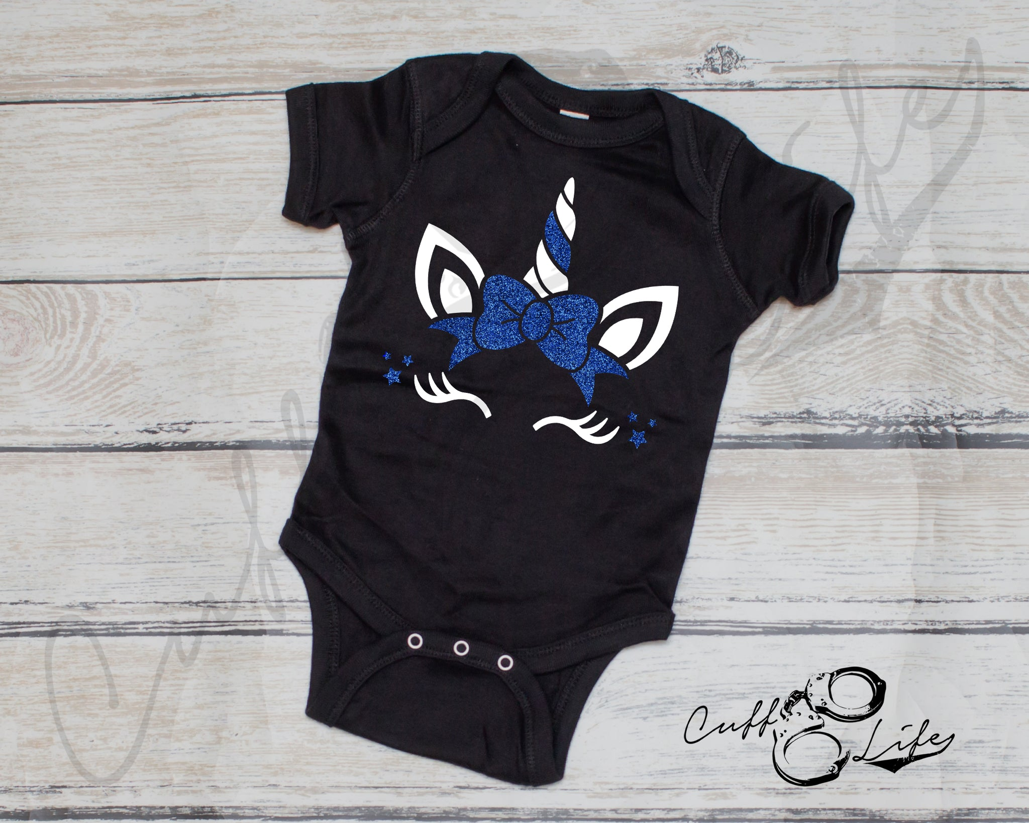 Thin Blue Line Unicorn - Infant Bodysuit