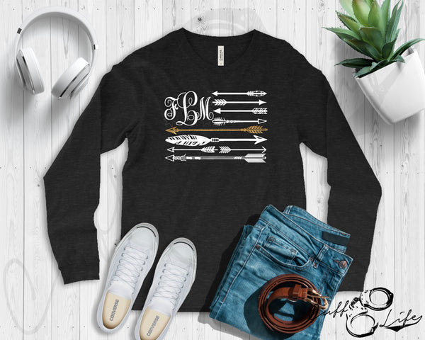 Monogram Arrow Flag - TGL - Long Sleeve Tee
