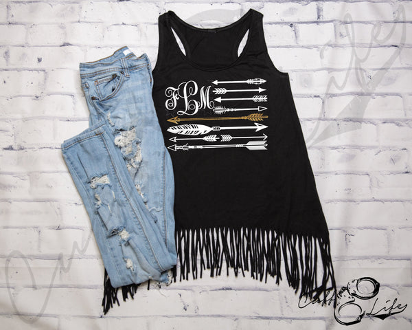 Monogram Arrow Flag - TGL © - Fringe Tank