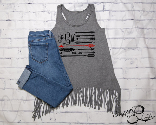 Monogram Arrow Flag - TRL - Fringe Tank