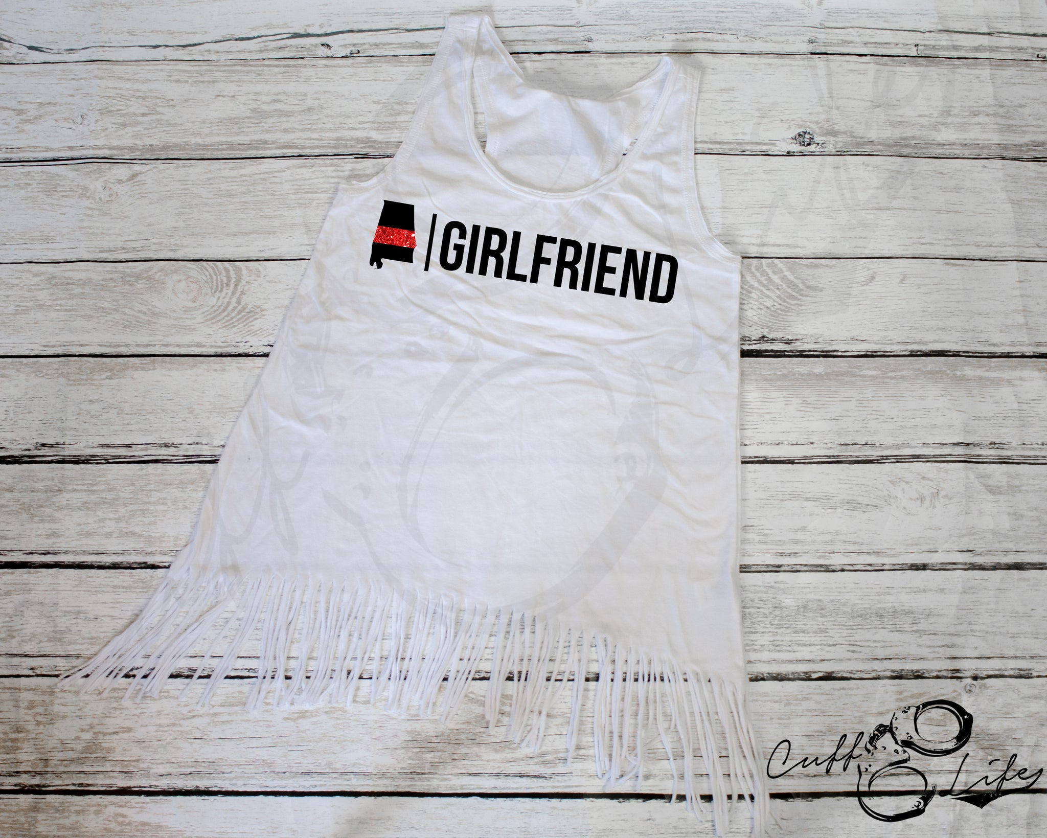 Thin Red Line Girlfriend - Fringe Tank