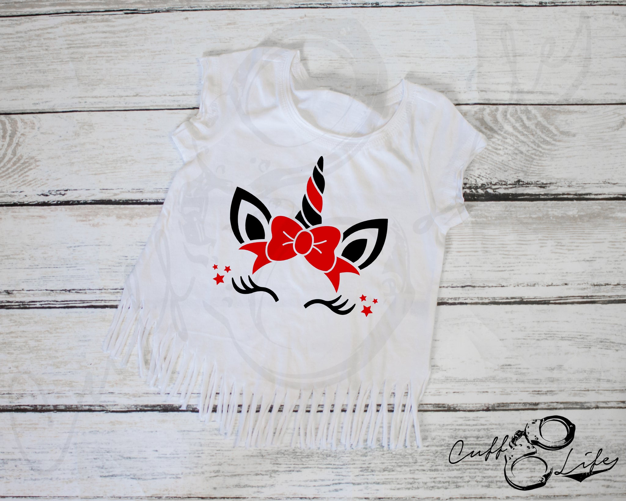 Thin Red Line Unicorn - Fringe Tee