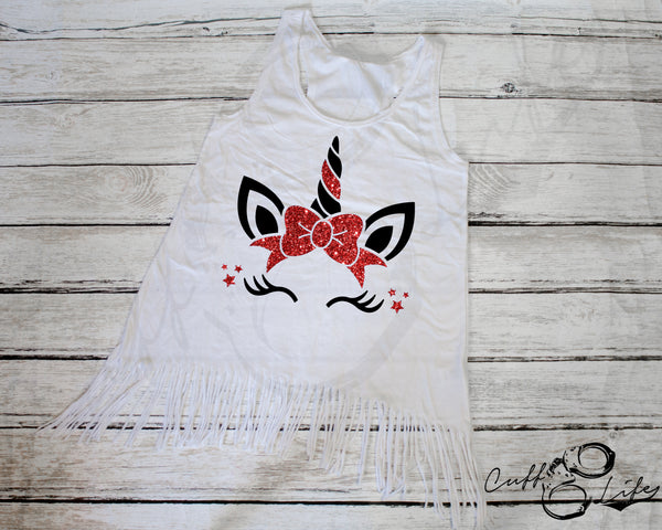 Thin Red Line Unicorn - Fringe Tank