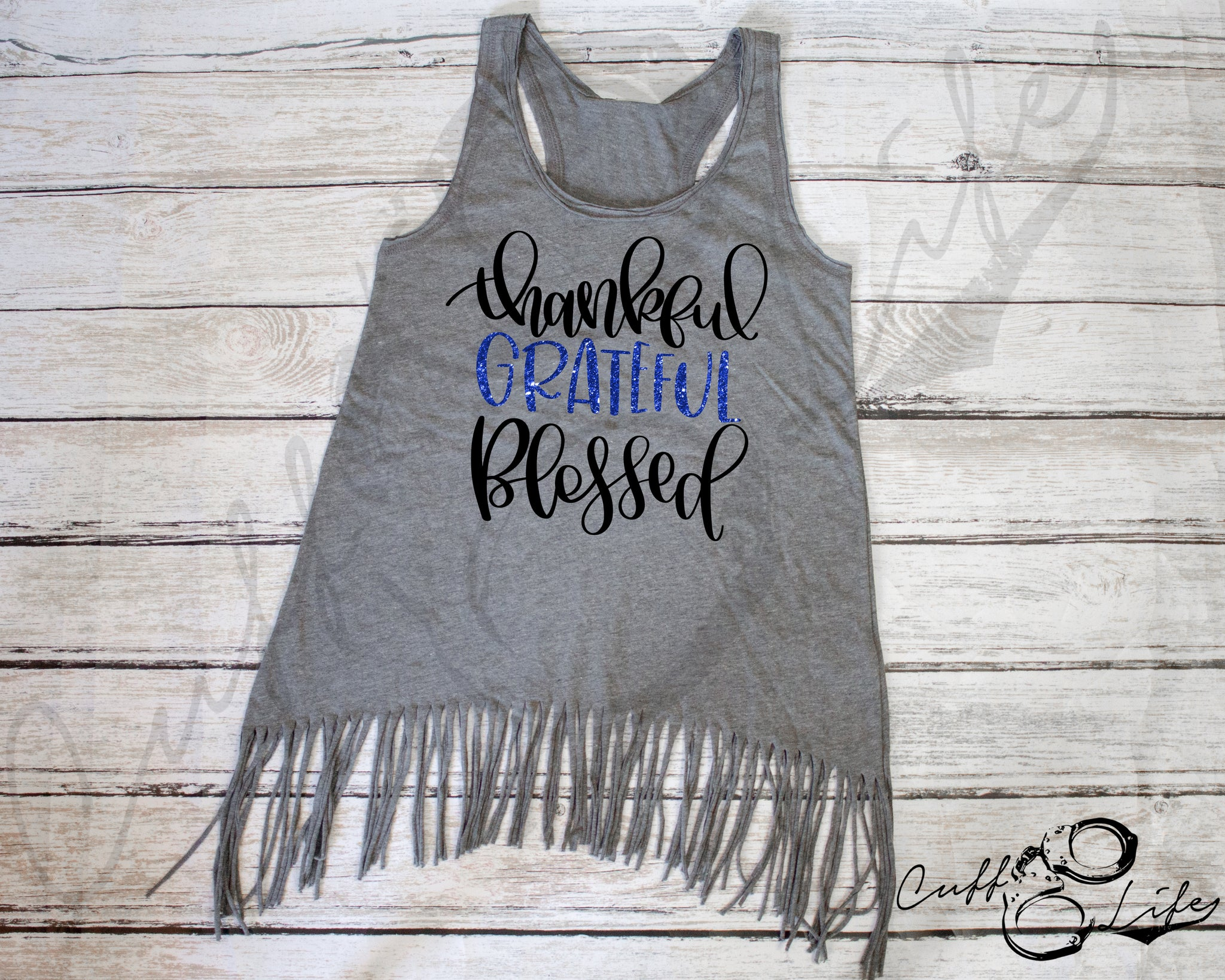 Thankful Grateful Blessed - Fringe Tank