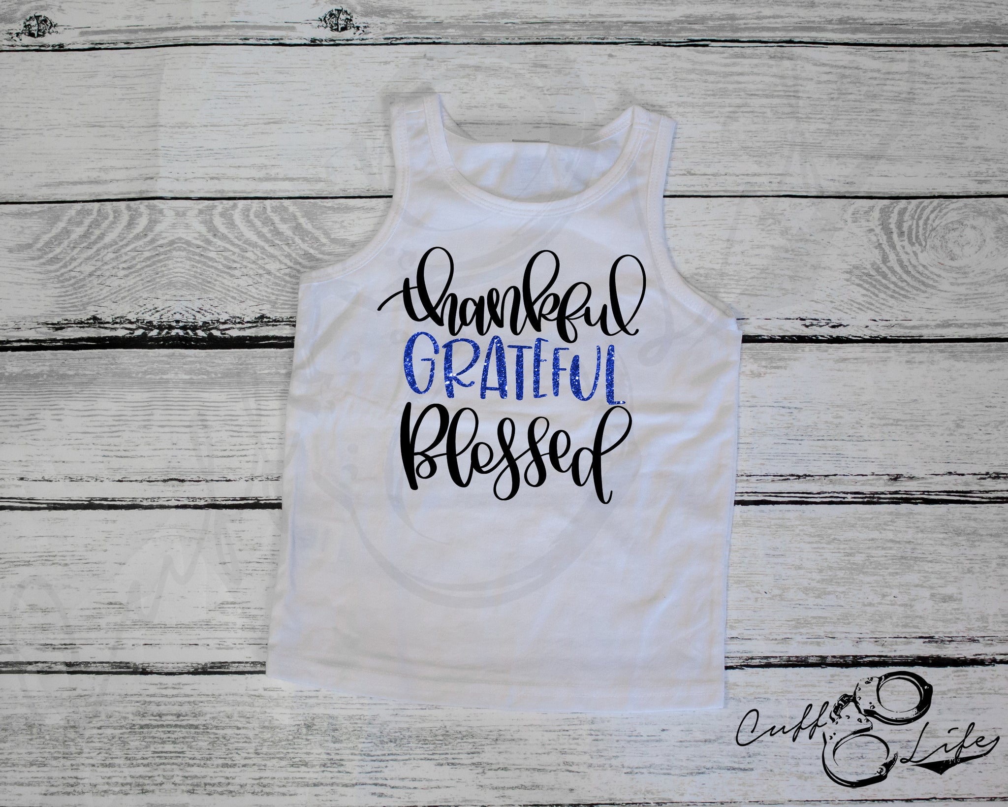 Thankful Grateful Blessed - Tank Top