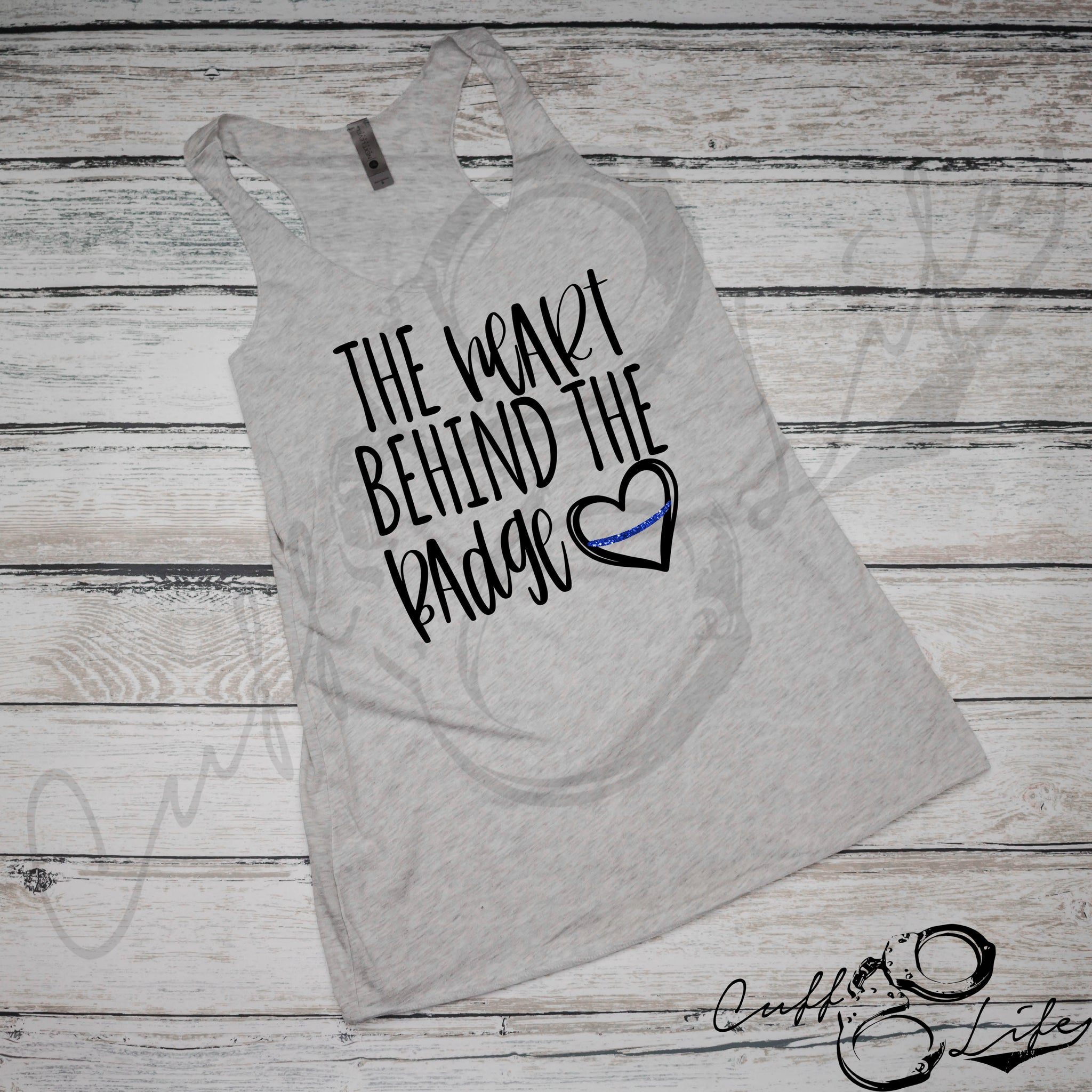 The Heart Behind the Badge - Racerback Tank