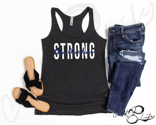 Thin Blue Line STRONG - Racerback Tank