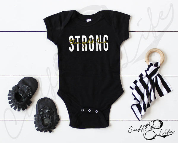 Thin Gold Line STRONG - Infant Bodysuit