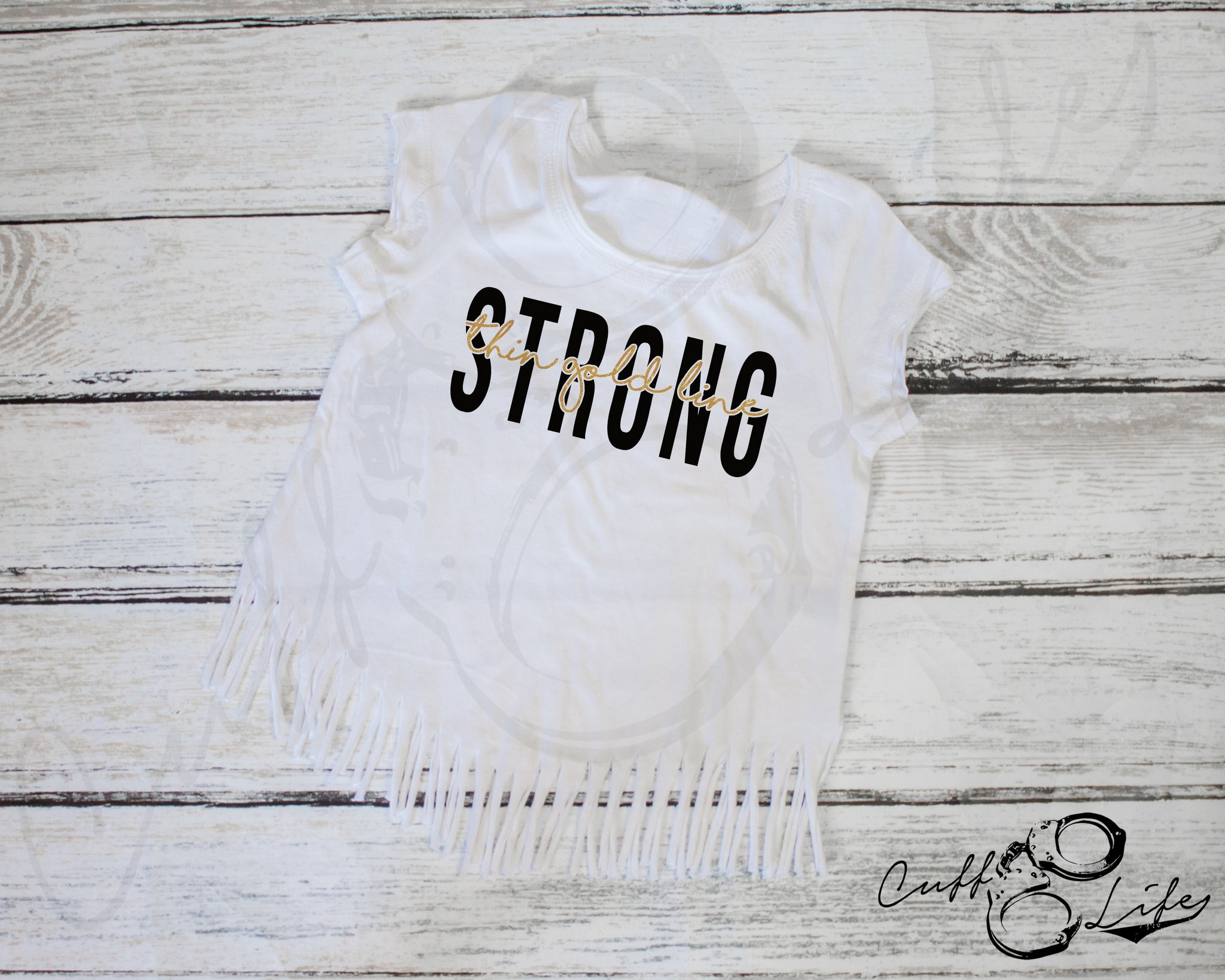 Thin Gold Line STRONG © - Fringe Tee