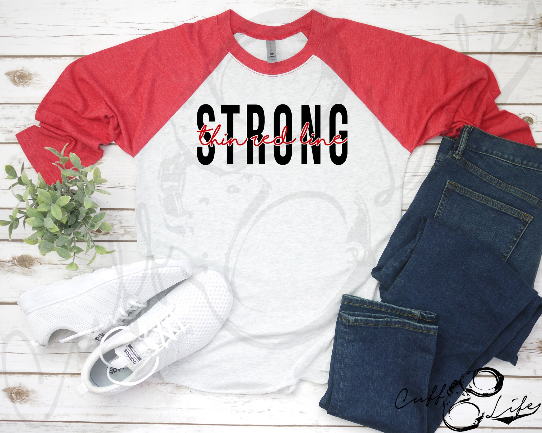 Thin Red Line STRONG © - 3/4 Sleeve Raglan
