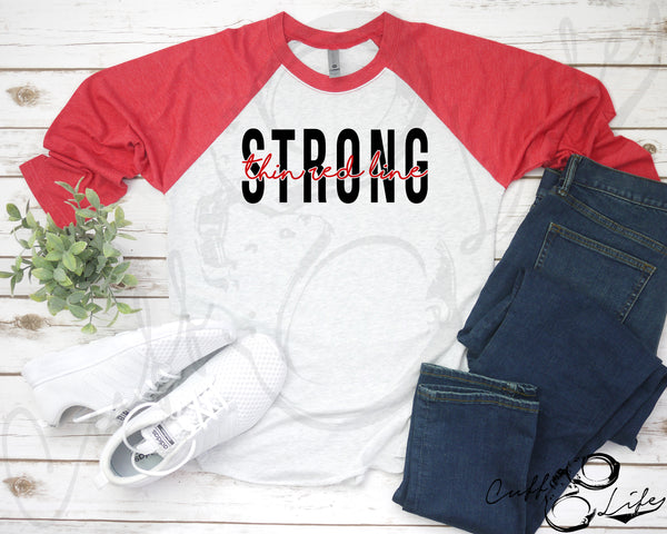 Thin Red Line STRONG - 3/4 Sleeve Raglan