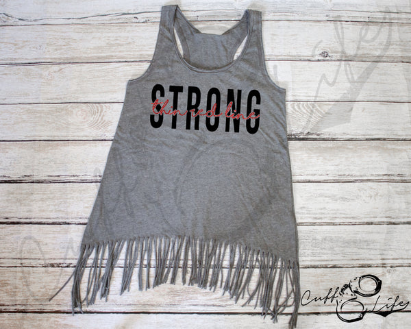 Thin Red Line STRONG - Fringe Tank