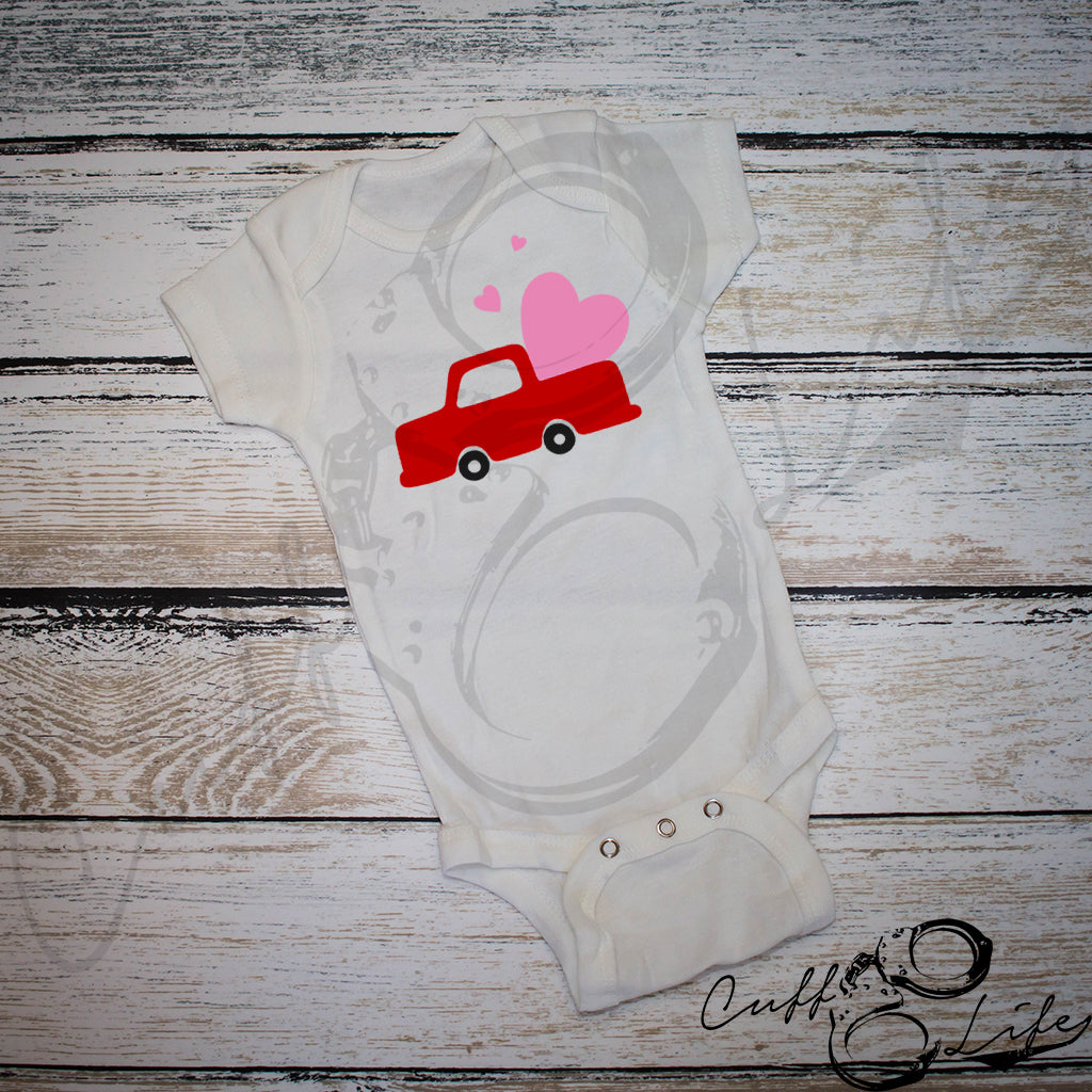 Valentine Truck - Infant Bodysuit