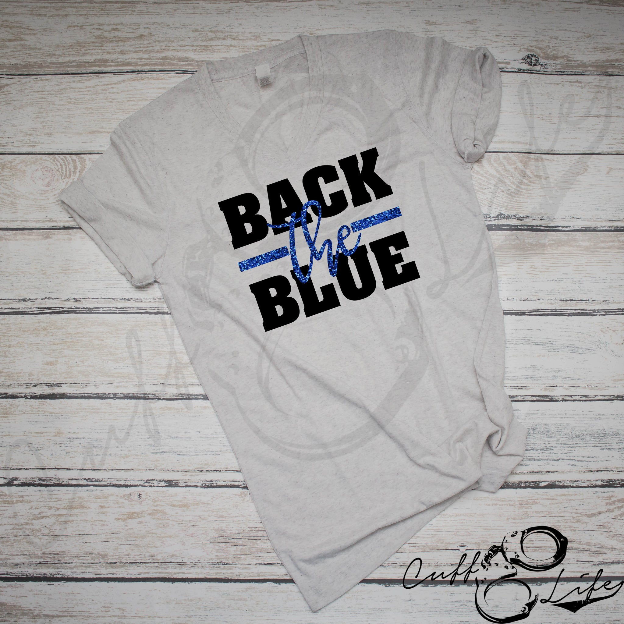 Back The Blue © - Boyfriend Fit V-Neck Tee