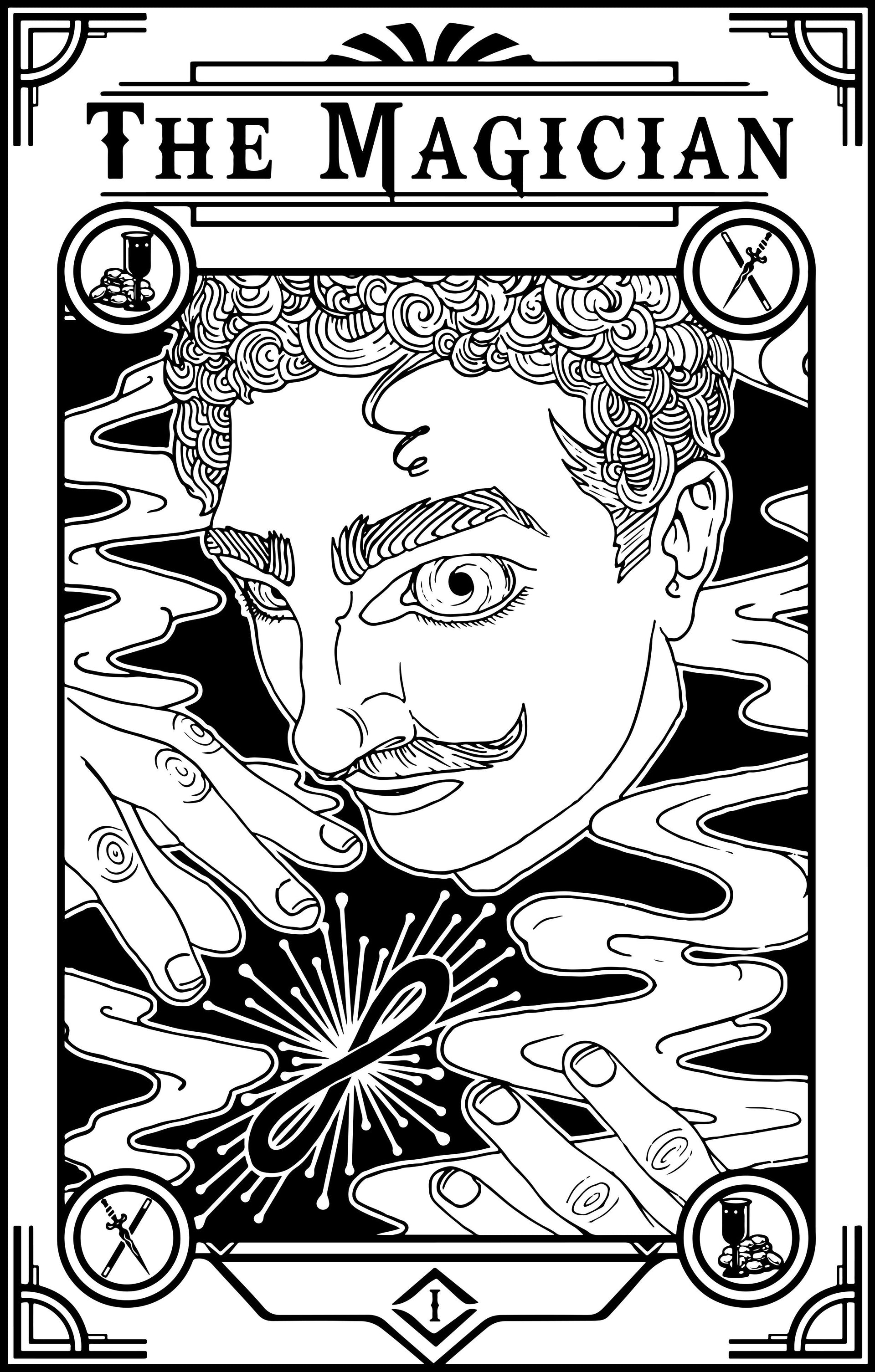 The Magician Tarot Design – Tom van der Lee Illustration