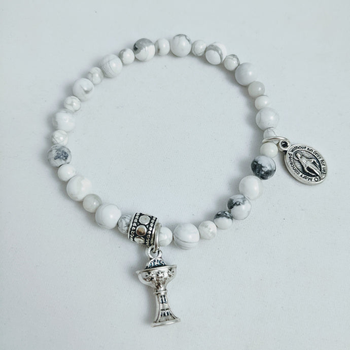 Holy Communion Rosary Bracelet