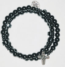 """Resolve of Steel"" Hematite Rosary Bracelet Wrap - ""Nuts and Bolts"""