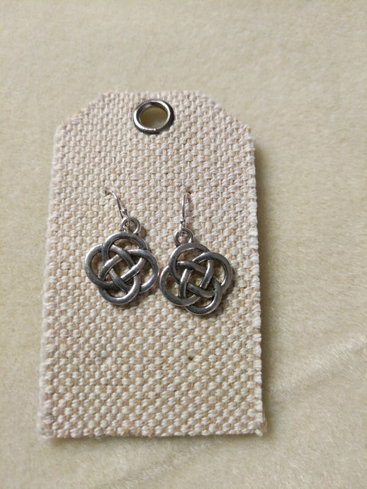 Celtic Knot Earrings with Sterling Silver
