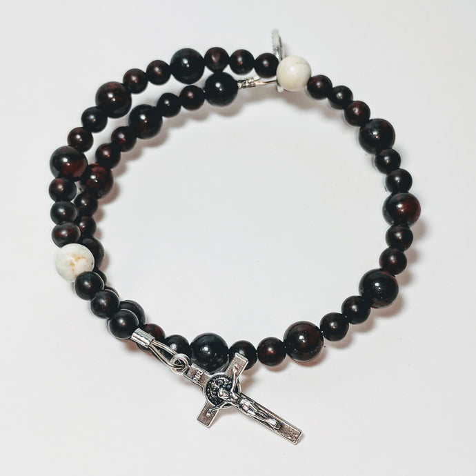 Divine Mercy Single Decade Rosary Bracelet Wrap