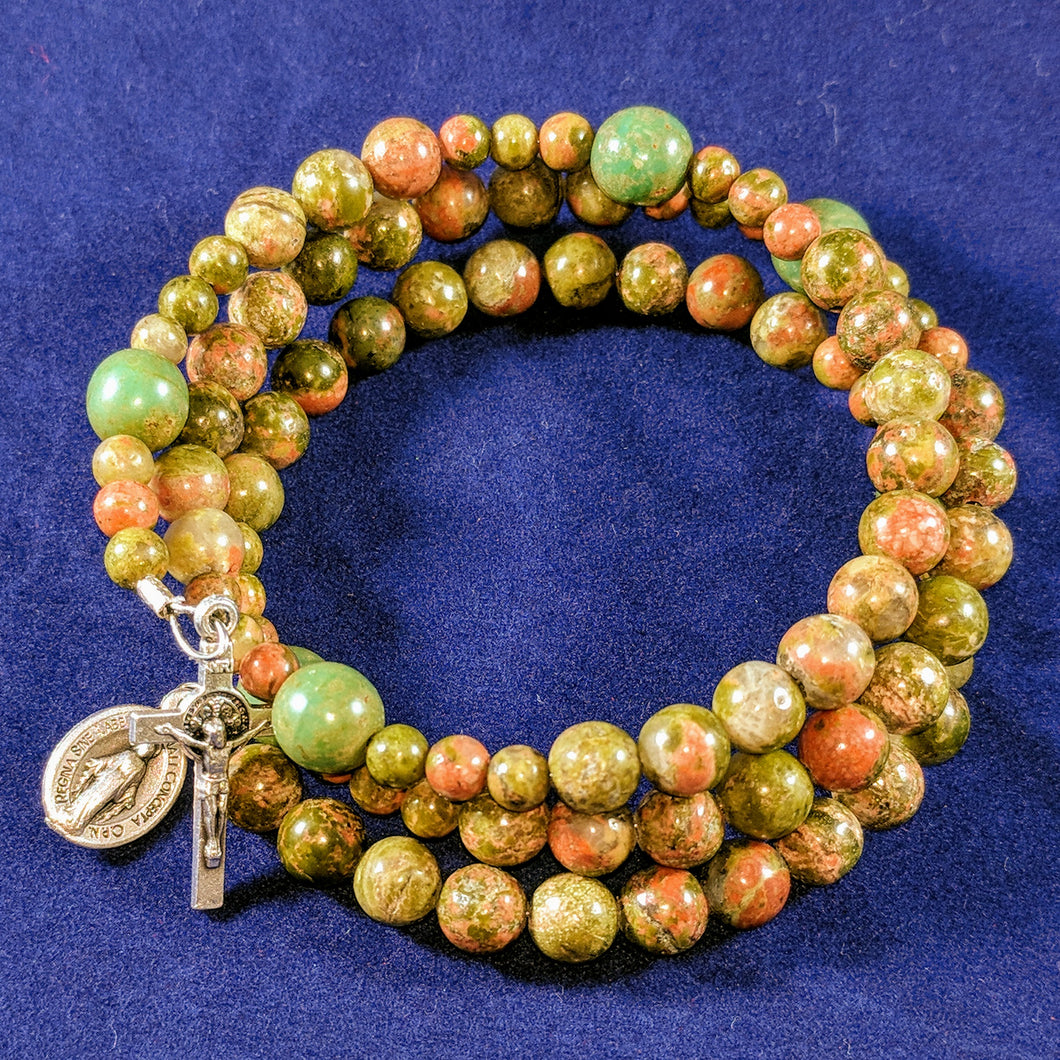 Peaceful Pastures Rosary Bracelet