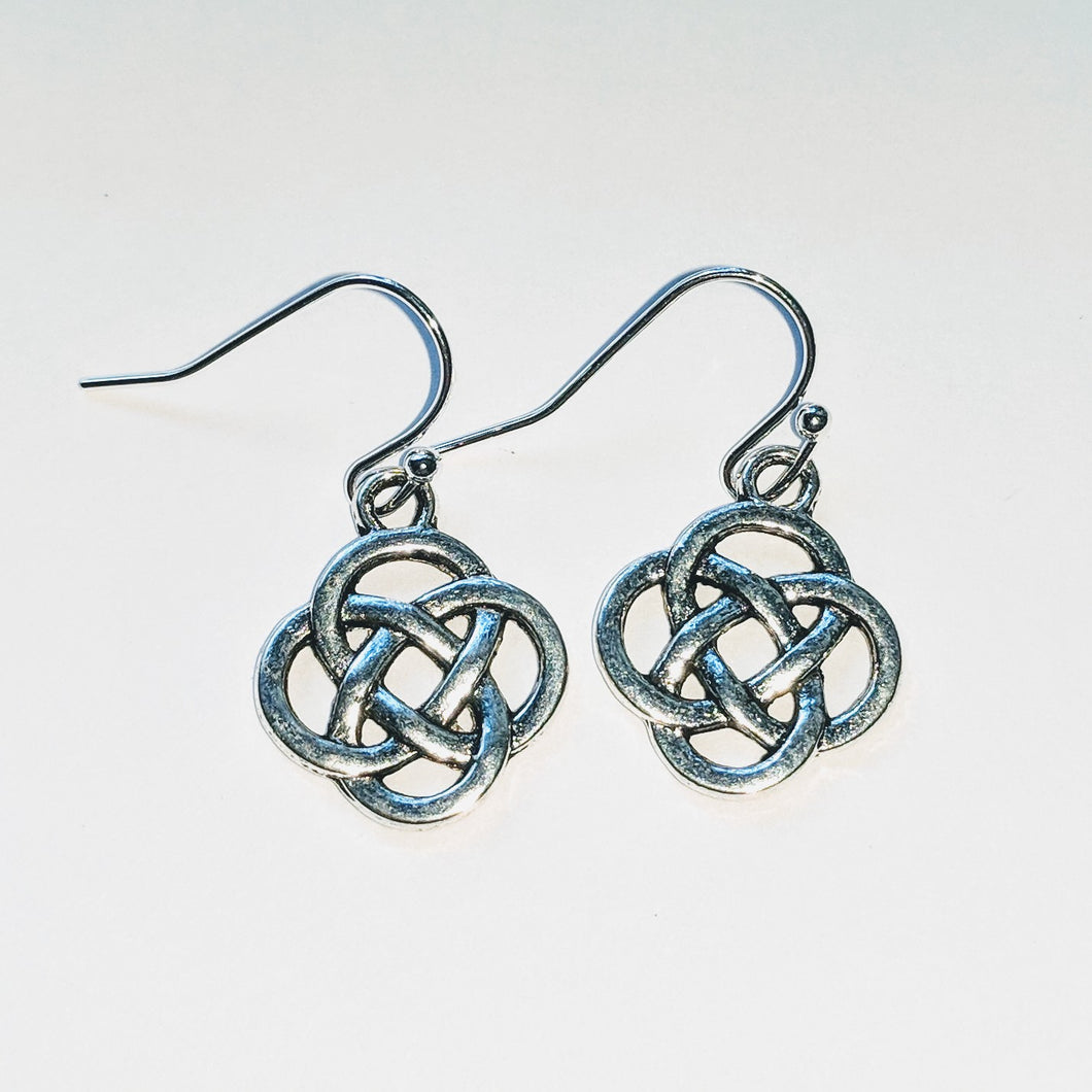 Celtic Knot Earrings - Silver Plated