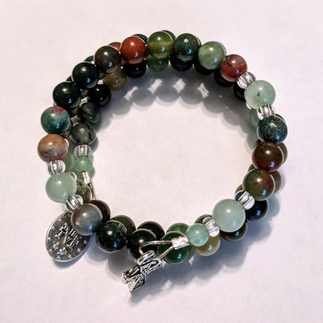 Celtic Fields of Grace Rosary Bracelet Wrap