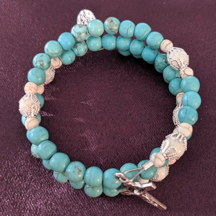 Custom Turquoise With White Howlite Beads
