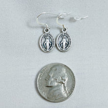 Sterling Silver Earrings with Miraculous Medals