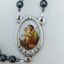 Resolve of Steel chain link Hanging Rosary