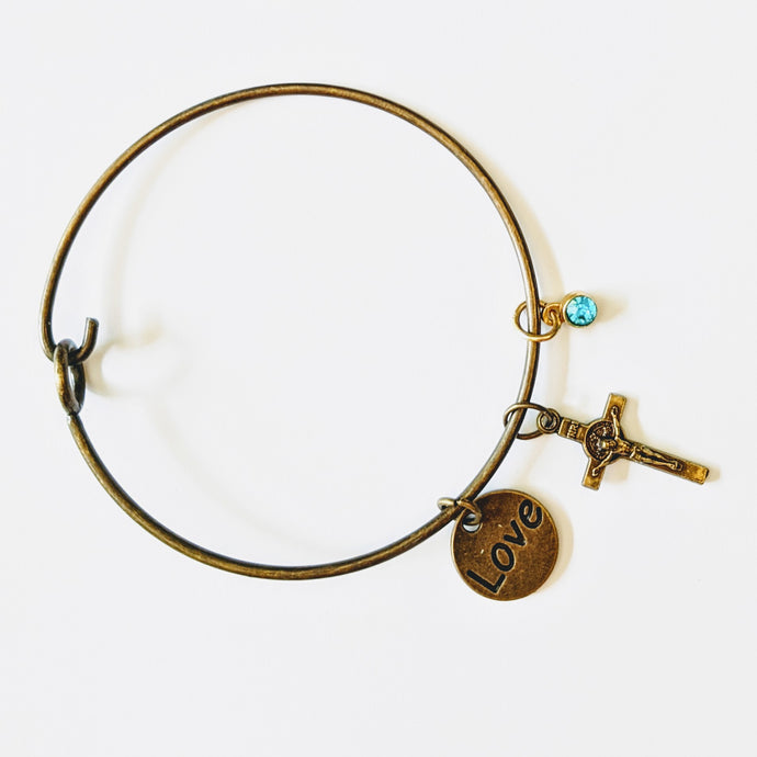Bronze Love Bangle