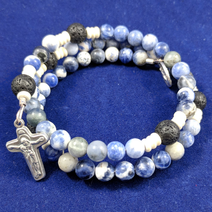 Ocean Of Mercy with Stone Rondelles and Lava Beads