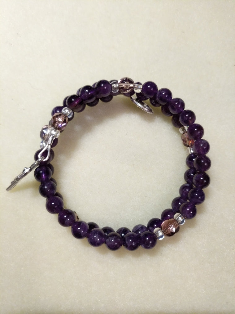 Purple Amethyst W/ Czech Glass Purple Our Fathers