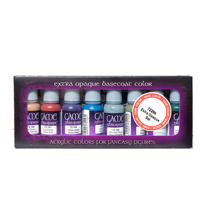 Vallejo Game Color: Extra Opaque Basecoats Paint Set (8)